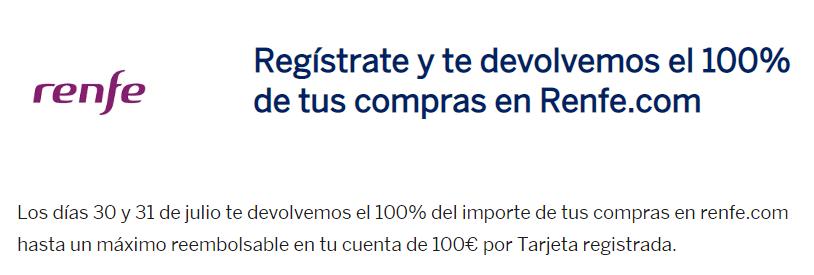 Descuento del 100% en Renfe.com